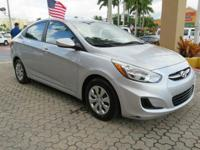Options:  2015 Hyundai Accent Gls 4Dr Sedan|Silver|The