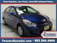 1 Owner Clean Car-Fax This 2015 Hyundai Accent 4dr Sdn