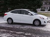Options:  2015 Hyundai Accent Gls|White/|V4 1.6 L