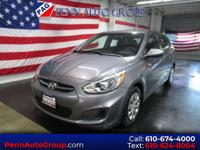 CARFAX One-Owner. Gray 2015 Hyundai Accent GS FWD