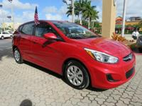 Options:  2015 Hyundai Accent Gs 4Dr Hatchback Red The