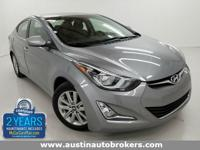 This 2015 Hyundai Elantra is CERTIFIED Pre- Owned and