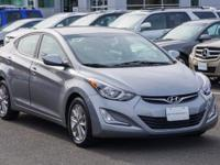 CARFAX One-Owner. Certified. Gray 2015 Hyundai Elantra
