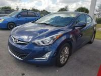 2015 Hyundai Elantra SE in Windy Sea Blue, 10 year or