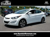 HYUNDAI CERTIFIED, ONE OWNER, and CLEAN CARFAX HISTORY.