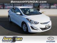 CLEAN CARFAX/NO ACCIDENTS, CARFAX CERTIFIED, Elantra