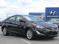 2015 Hyundai Elantra SE FWD 6-Speed Automatic with