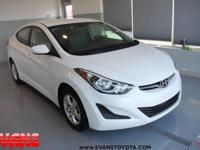 Clean CARFAX. WHITE 2015 Hyundai Elantra FWD 6-Speed
