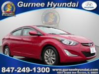 Clean CARFAX. 2015 Hyundai Elantra SE Red 15 Alloy