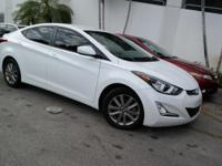 Options:  2015 Hyundai Elantra|White|Radio: