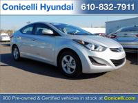 CarFax One Owner! This Hyundai Elantra is CERTIFIED!
