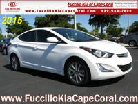 This 2015 Hyundai Elantra 4dr Sdn Auto SE is proudly