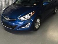CARFAX One-Owner. Windy Sea Blue 2015 Hyundai Elantra