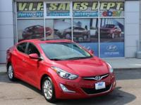 Red 2015 Hyundai Elantra Limited FWD 6-Speed Automatic