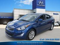 This 2015 Hyundai Elantra SE is proudly offered by