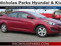 2015 Hyundai Elantra SE Certified. Priced below KBB