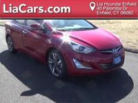 2015 Hyundai Elantra in Geranium Red, 1 Owner!,