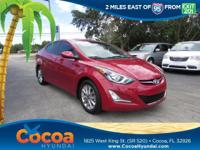 This 2015 Hyundai Elantra SE in features: Clean CARFAX.