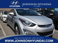 2015 Hyundai Elantra SE, Clean CarFax, and One Owner.