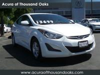 Options:  2015 Hyundai Elantra Se|White/|V4 1.8 L