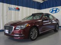 Red 2015 Hyundai Genesis 3.8 AWD 8-Speed Automatic with