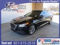 Black 2015 Hyundai Genesis 3.8 AWD 8-Speed Automatic