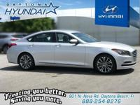 black Leather. Silver 2015 Hyundai Genesis 3.8 AWD