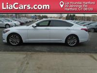 2015 Hyundai Genesis in Caspian Black. Leather. All the