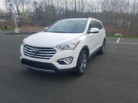 Certified. White 2015 Hyundai Santa Fe Limited AWD