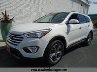 White 2015 Hyundai Santa Fe FWD 6-Speed Automatic with