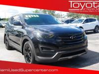Options:  2015 Hyundai Santa Fe Sport 2.4L|Black|2015