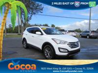 This 2015 Hyundai Santa Fe Sport 2.4L in White