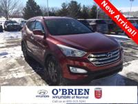 CARFAX One-Owner. Red 2015 Hyundai Santa Fe Sport 2.4L