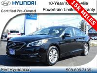 HYUNDAI CERTIFIED- WITH ONLY 15K One Owner SE Sonata
