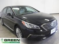 2015 Hyundai Sonata Limited Phantom Black FWD 6-Speed