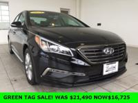 Recent Arrival! 2015 Hyundai Sonata in Black,