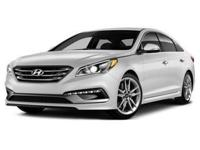 This 2015 Hyundai Sonata Limited in White features: 7
