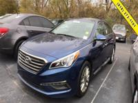 Blue 2015 Hyundai Sonata Limited FWD 6-Speed Automatic