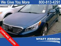 CARFAX One-Owner. Blue 2015 Hyundai Sonata Limited FWD