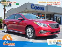 This 2015 Hyundai Sonata Limited in Venetian Red