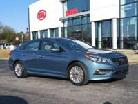 Blue 2015 4D Sedan Hyundai Sonata Limited FWD 6-Speed