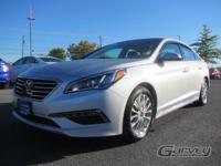 This 2015 Hyundai Sonata is offered in the limited trim