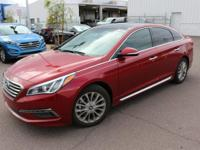 Tan.2015 Hyundai Sonata Limited Red 2.4L 4-Cylinder DGI