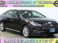 Clean CARFAX 1-Owner Phantom Black 2015 Hyundai Sonata