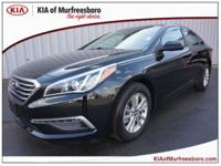 Black 2015 Hyundai Sonata SE FWD 6-Speed Automatic with