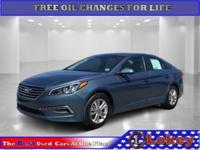 Blue 2015 Hyundai Sonata FWD 6-Speed Automatic with