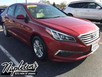 Recent Arrival! Certified. 2015 Hyundai Sonata in Red,