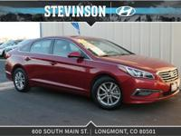 2015 Hyundai Sonata SE Venetian Red 6-Speed Automatic