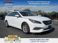This 2015 Hyundai Sonata SE in is well equipped with: