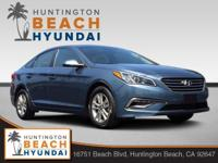 2015 Hyundai Sonata Blue 6-Speed Automatic with
